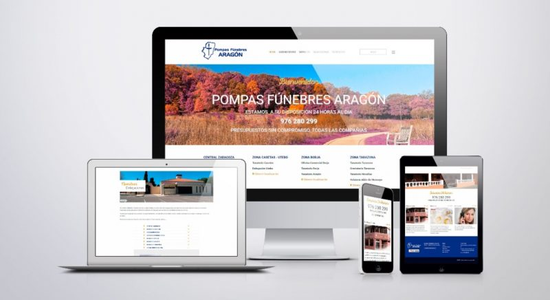 WEB de FUNERARIA ARAGÓN